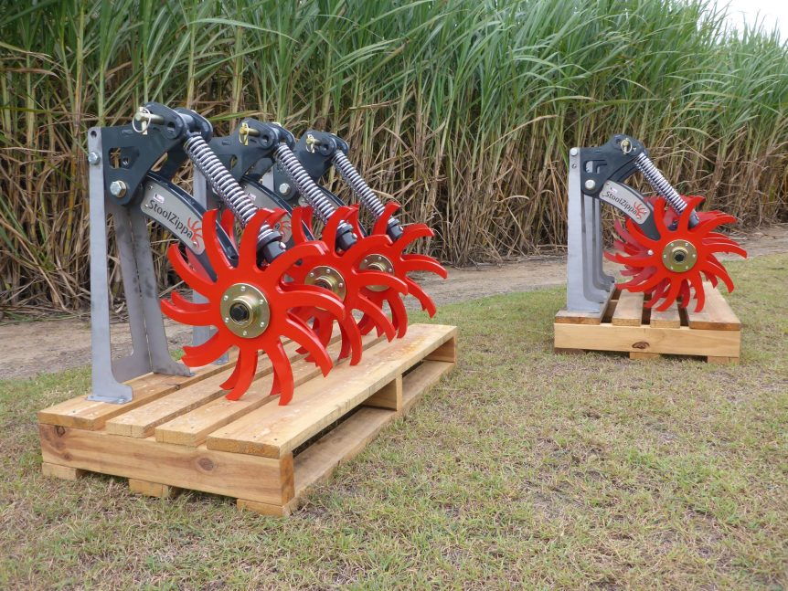StoolZippa closing wheel assembly sugarcane